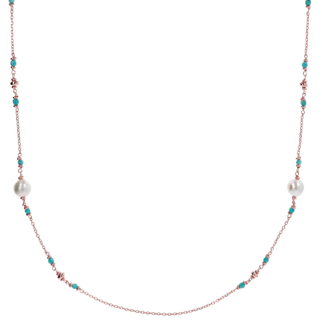 Natural Gemstones and Pearls Maxima Necklace