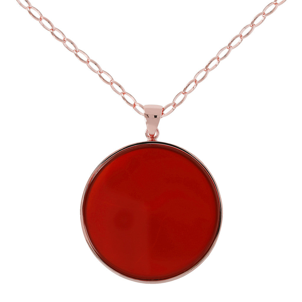 Necklace mineral big disc