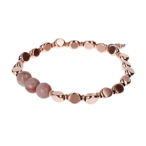 Nugget and Gemstone Bracelet RHODOLITE