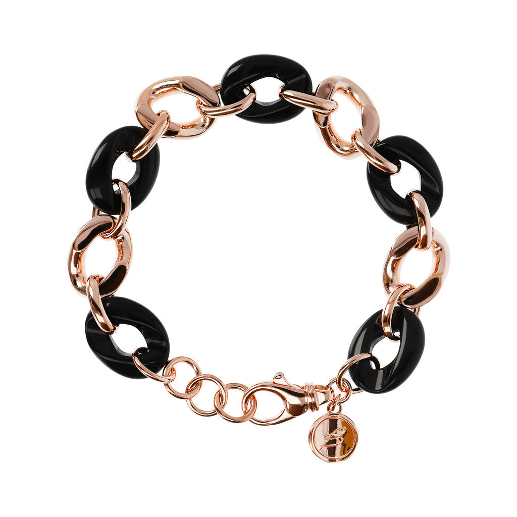 Onyx and Rosè Gold Bracelet