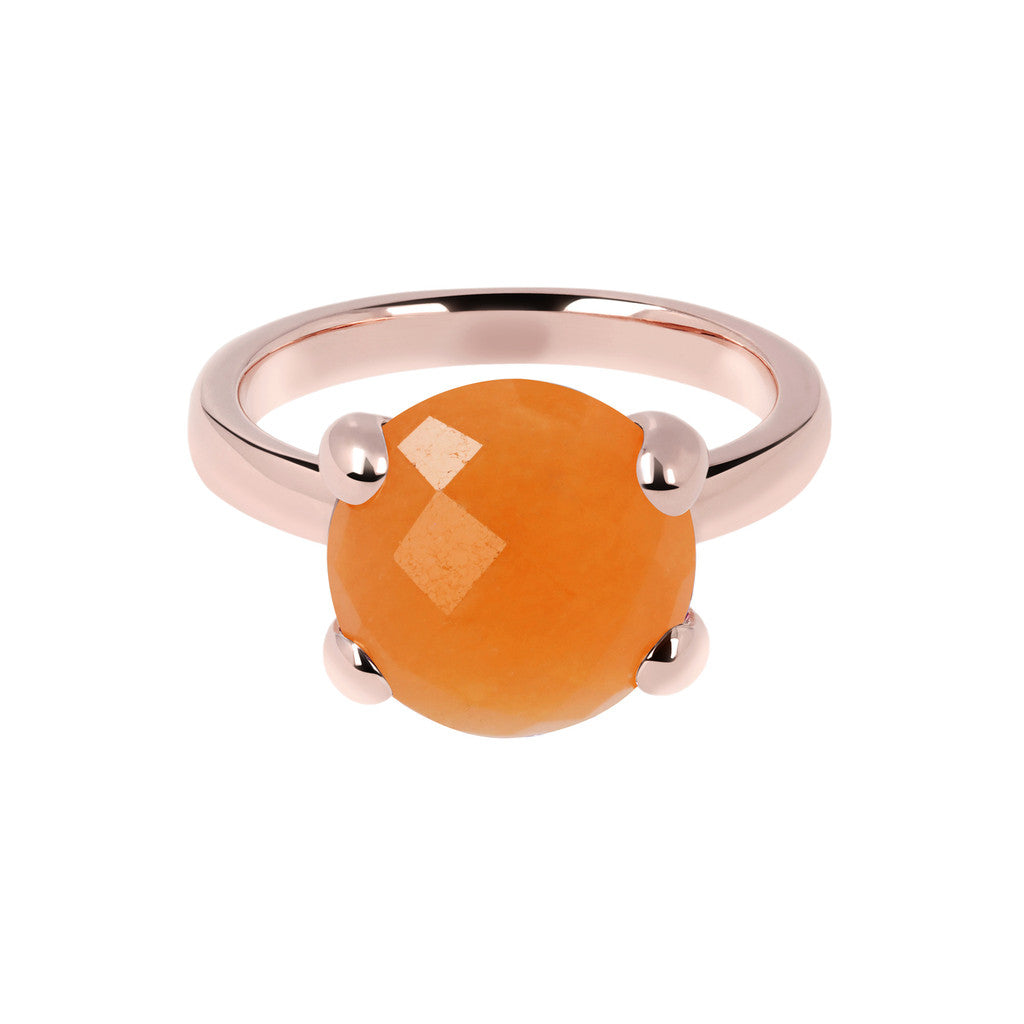 Orange Chalcedony Cocktail Ring ORANGE CHALCEDONY setting
