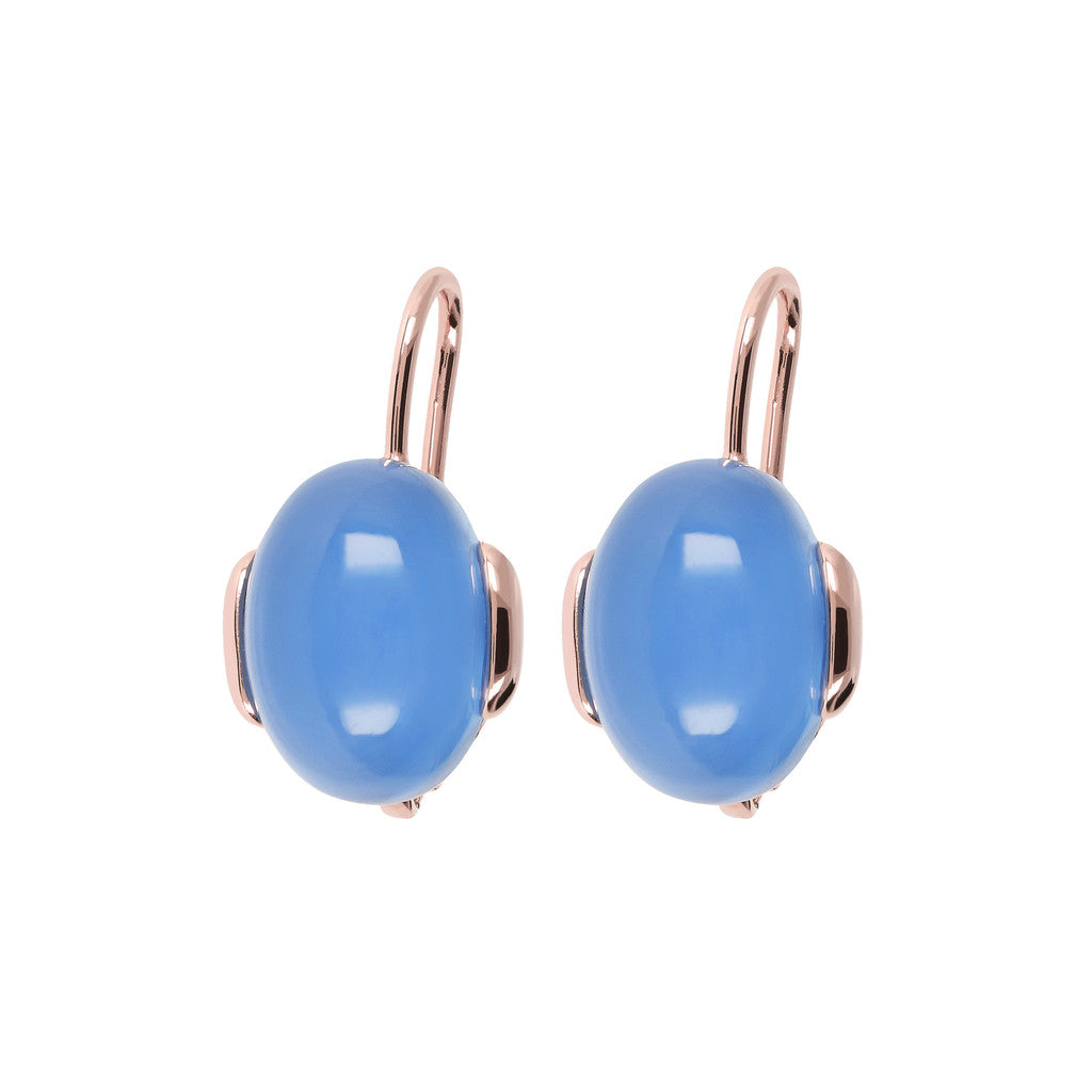 Oval Chobachon Dangle Earrings