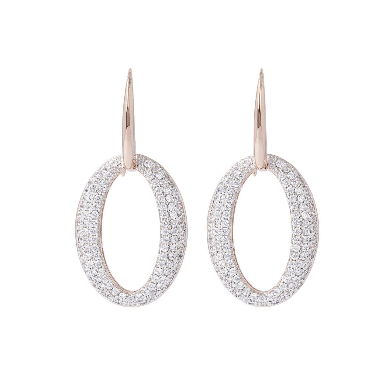 Altissima Petite Oval Pave Earrings