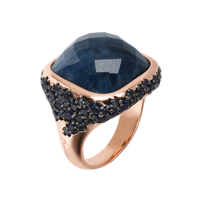 PREZIOSA STONE RING WITH CZ PAVè - WSBZ01759