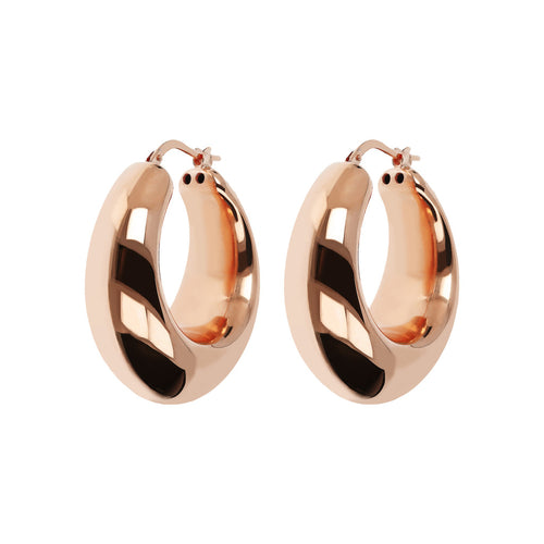PUREZZA 1.25 inches long bold round hoops - WSBZ01629