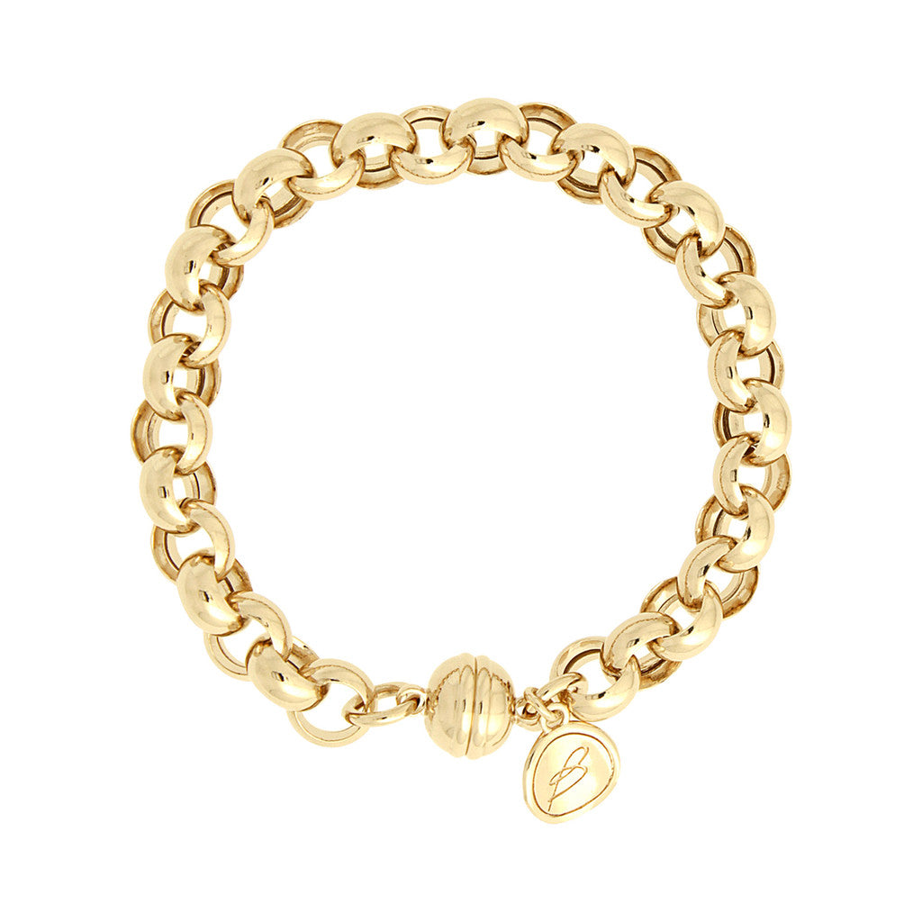 Rolò Bracelet with Magnetic Clasp Yellow Gold