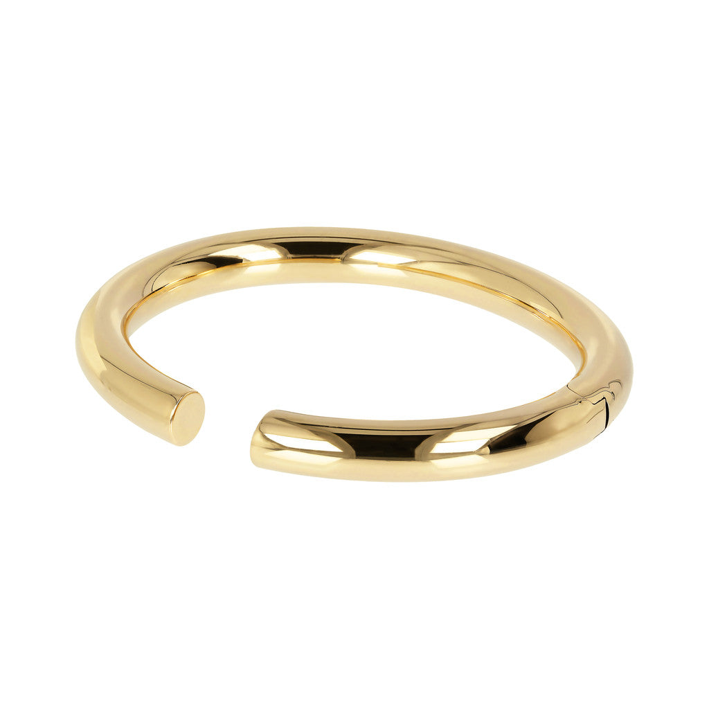 PUREZZA BRONZALLURE GOLDEN POLISHED CUFF BANGLE - WSBZ01477Y