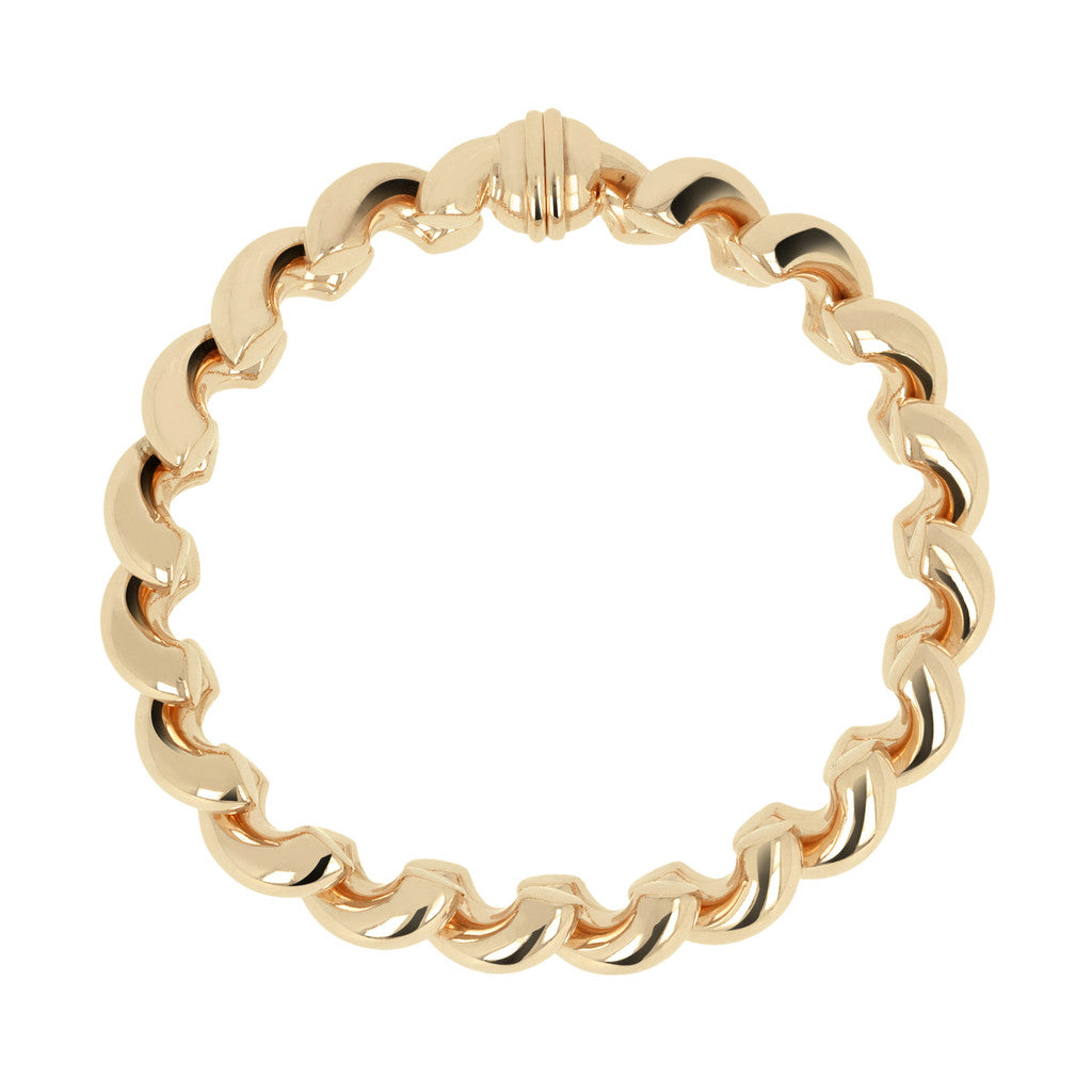 Bronzallure | Bracelets | San Marco Bracelet with Magnetic Clasp Yellow Gold