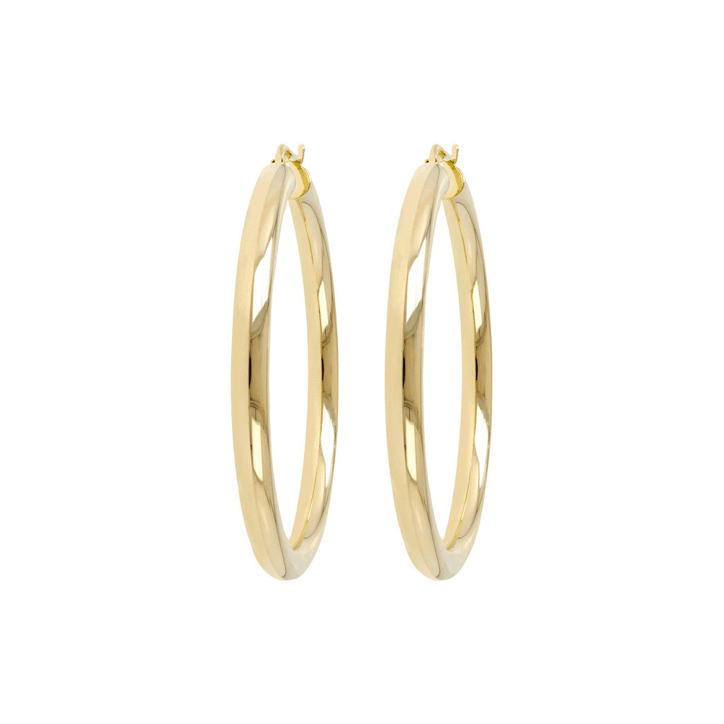 Large Hoop Earrings Yellow Gold