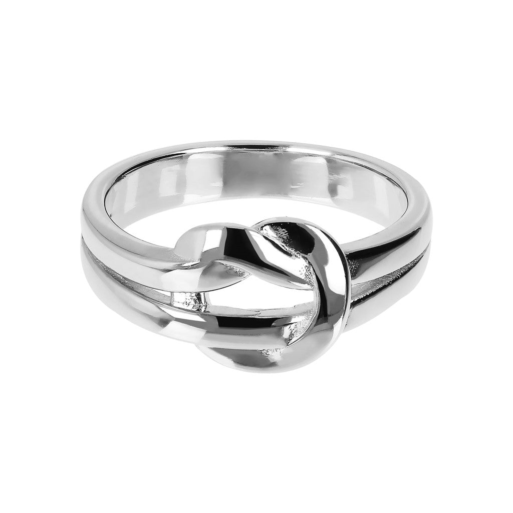PUREZZA BRONZALLURE WHITE GOLD KNOT SHINY RING - WSBZ01419W setting
