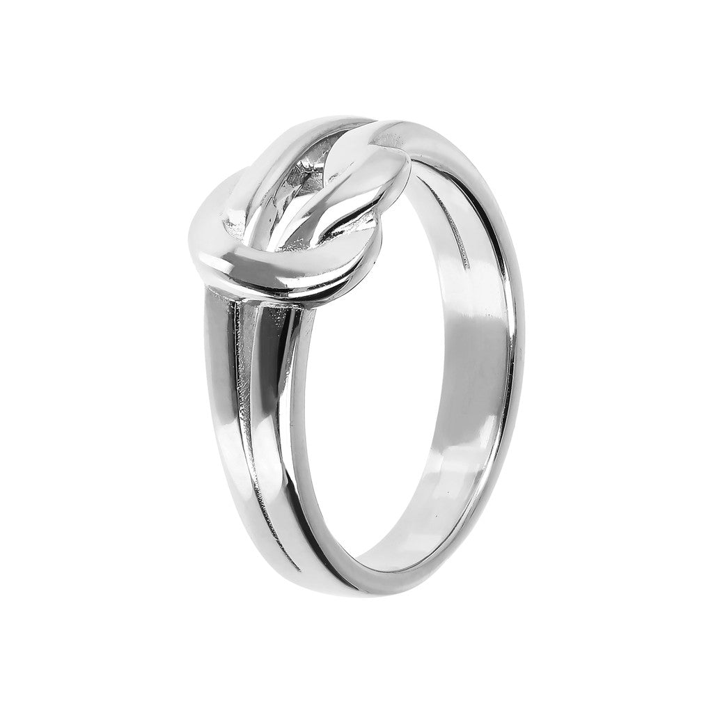 PUREZZA BRONZALLURE WHITE GOLD KNOT SHINY RING - WSBZ01419W
