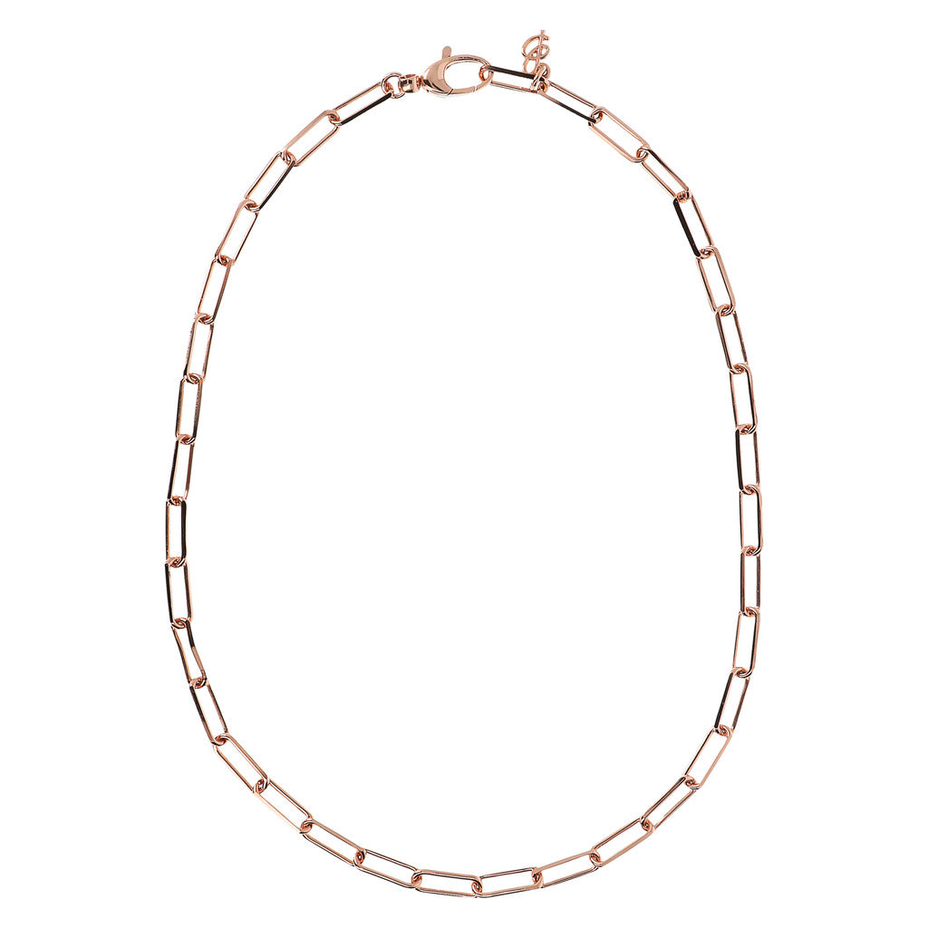 PUREZZA LONG LINK DC CHAIN NECKLACE - WSBZ01740 from above