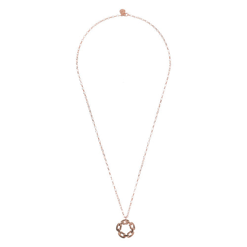 PUREZZA NECKLACE WITH POLISHED ROUND PENDANT LINK SHAPE  - WSBZ01470 from above