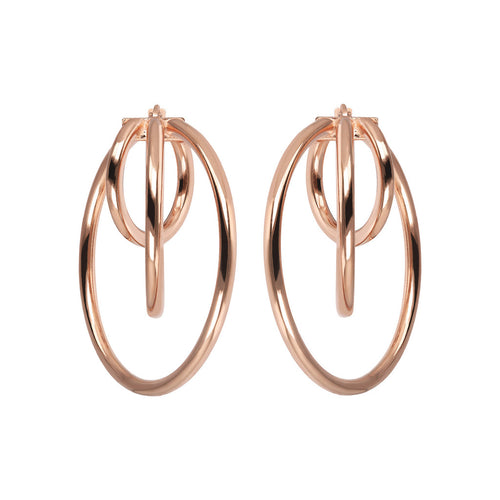 Bronzallure | Earrings | Triple Design Hoop  Earrings