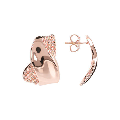 PUREZZA TEXURED EARRING - WSBZ01247 front and side