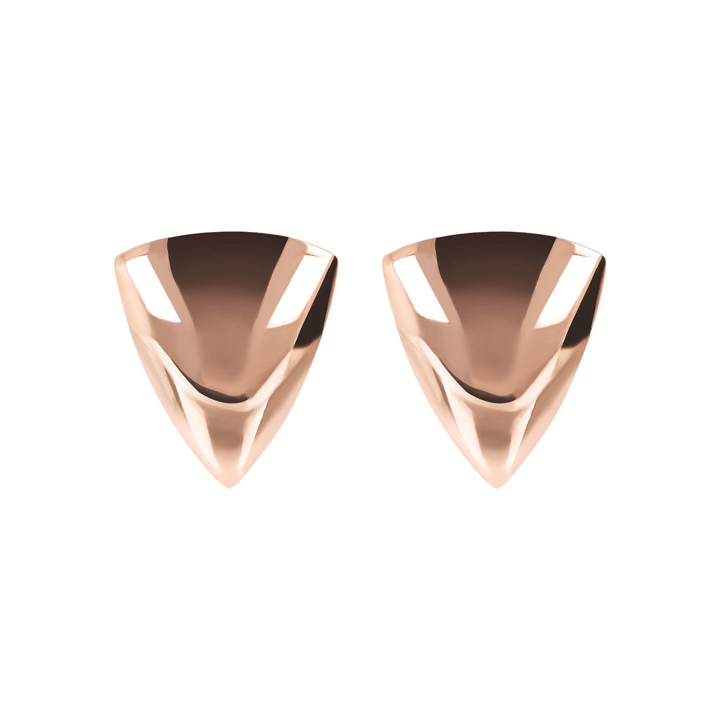 PUREZZA TRIANGLE BUTTON EARRINGS - WSBZ01780