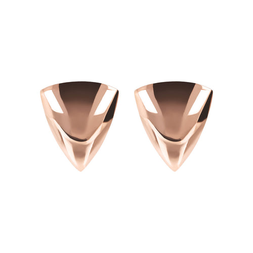 Bronzallure | Earrings | Triangle Golden Rosé Stud Earrings