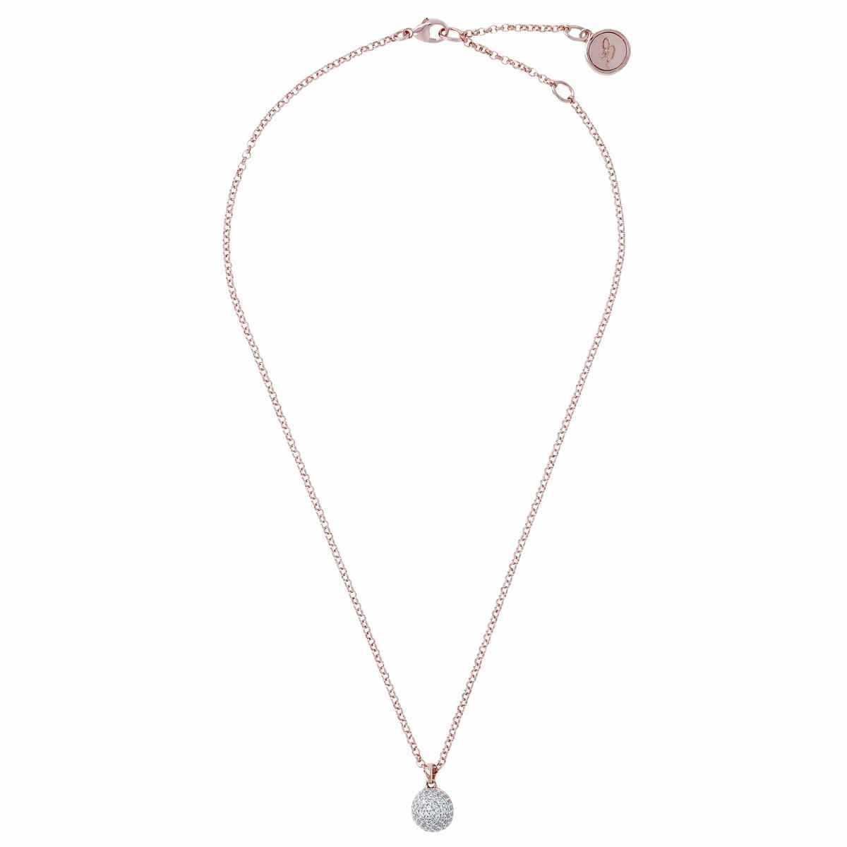 Ball chain necklace CUBIC ZIRCONIA from above