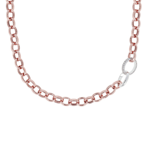 Pave Link Necklace from above