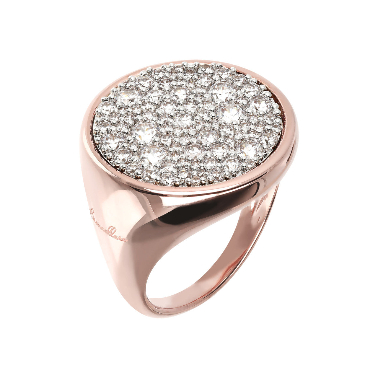 Pave Signet Ring CUBIC ZIRCONIA