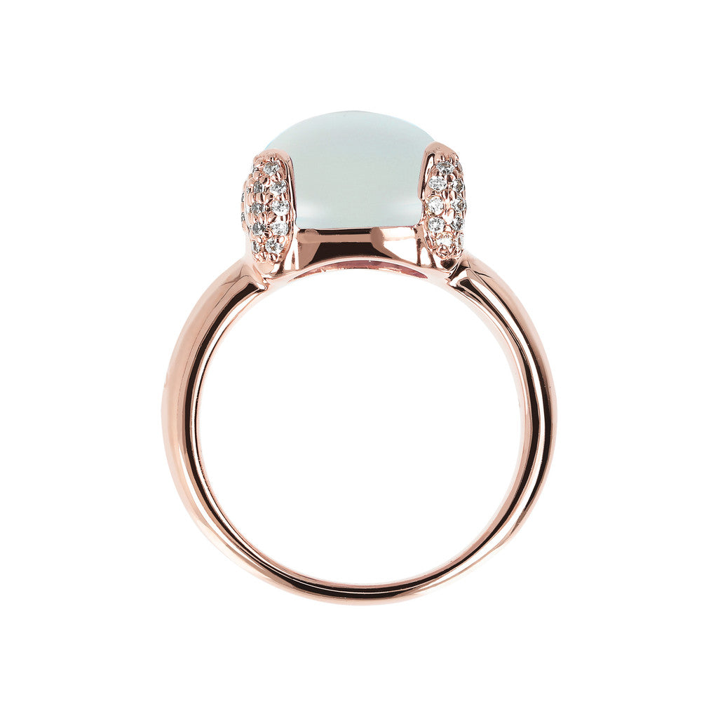 Pave cocktail ring setting