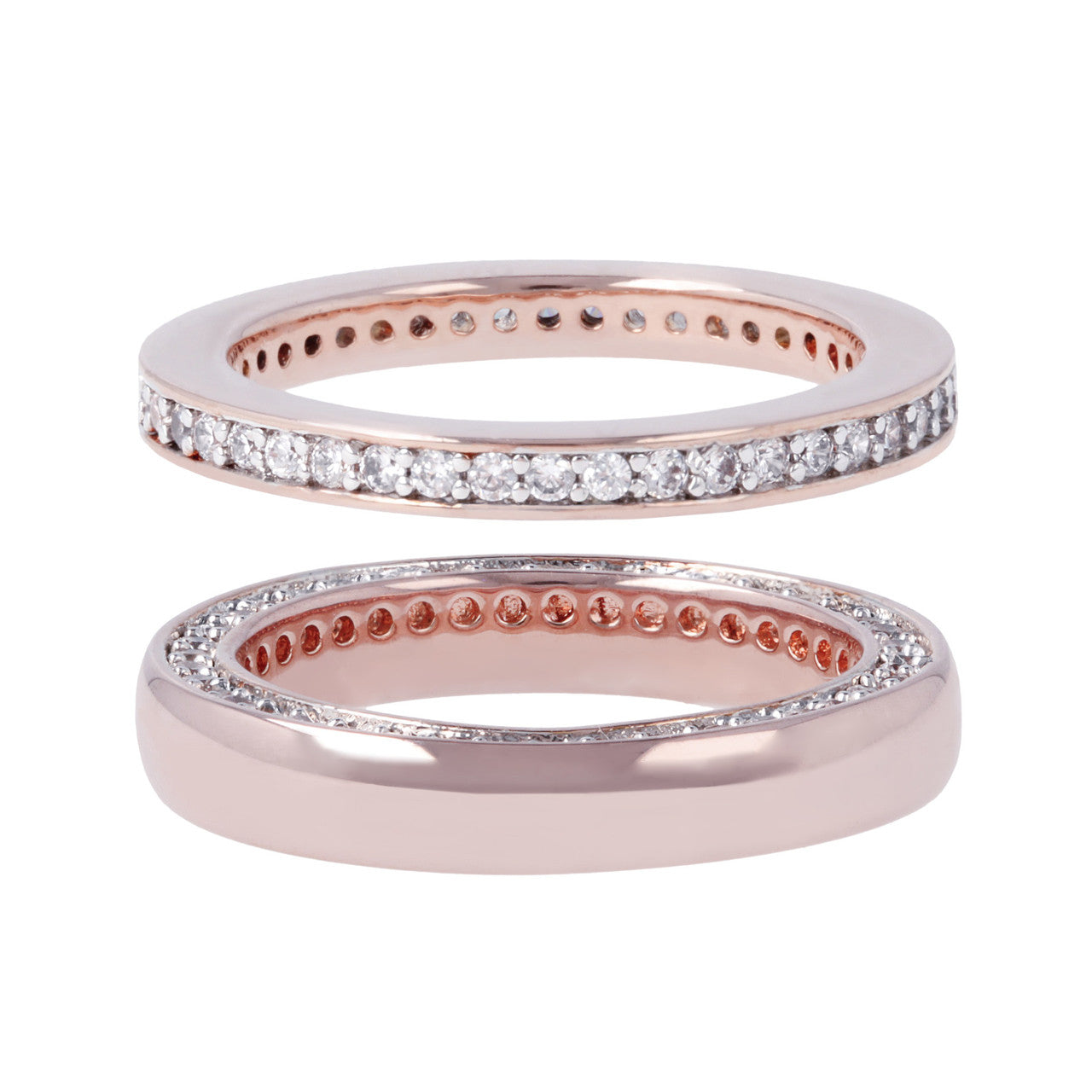 Pave Set Band Rings