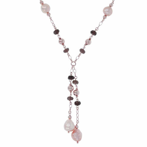 Pearl Beaded Lariat Necklace