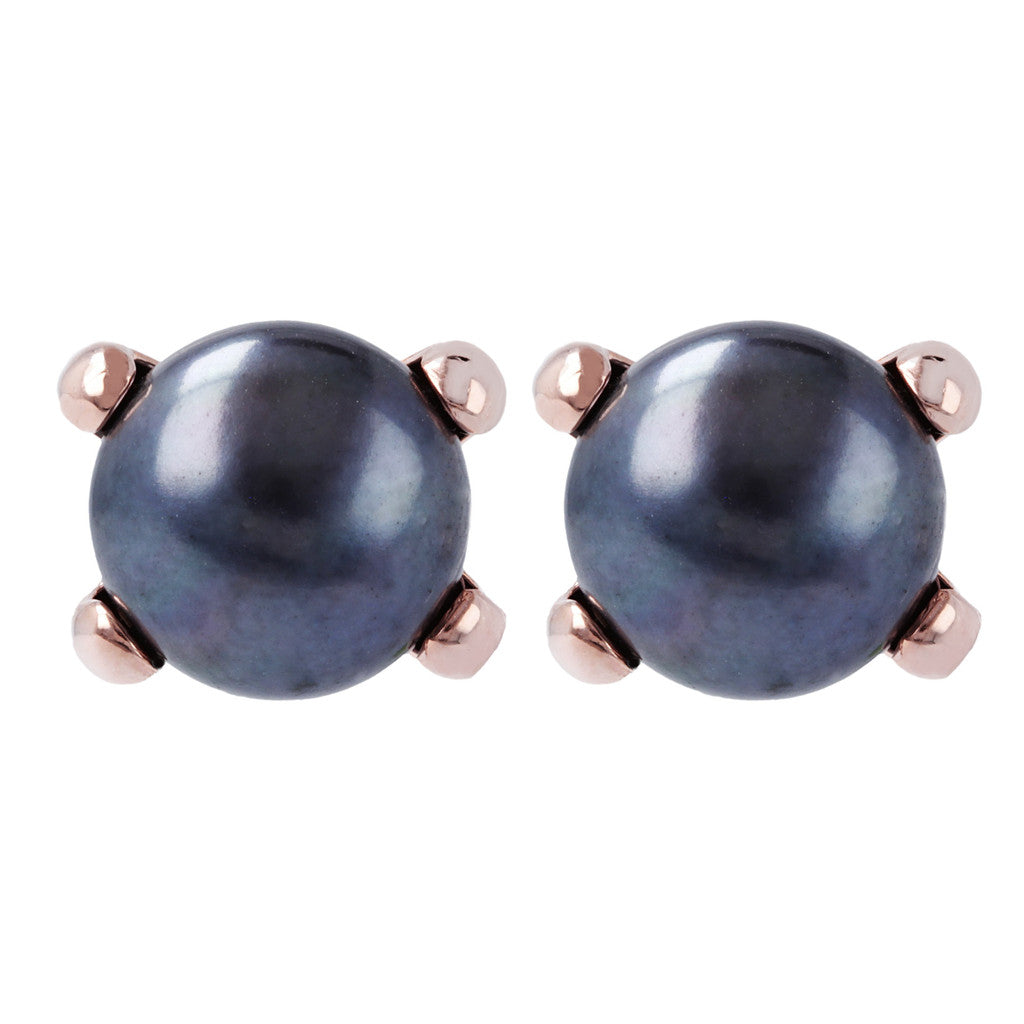 Bronzallure | Earrings | Pearl Button Earrings