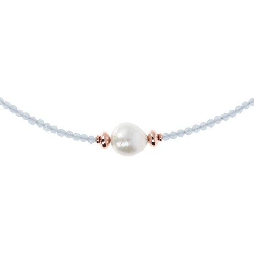 Pearl and Gemstone Necklace from above