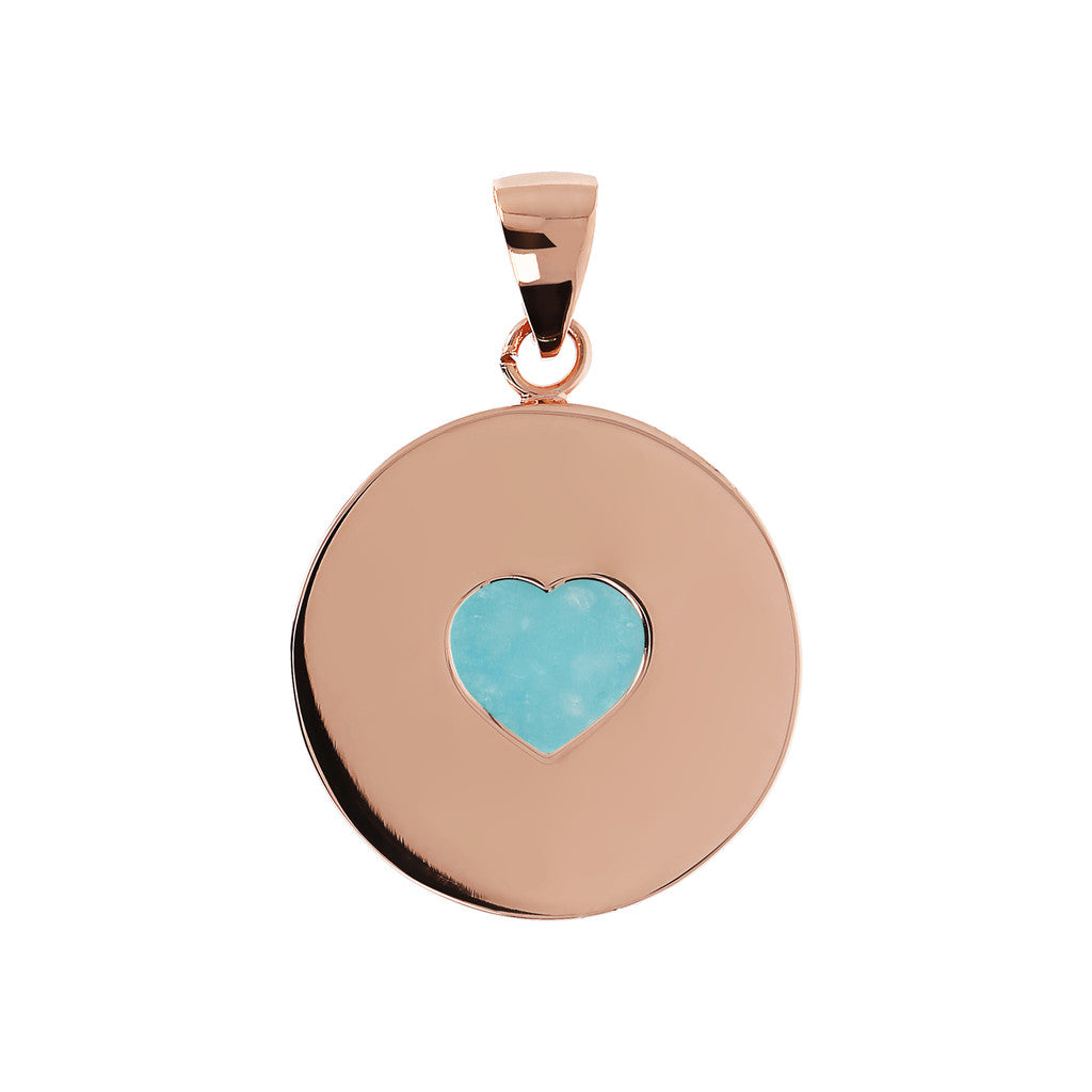 Pendant with Heart Amazonite