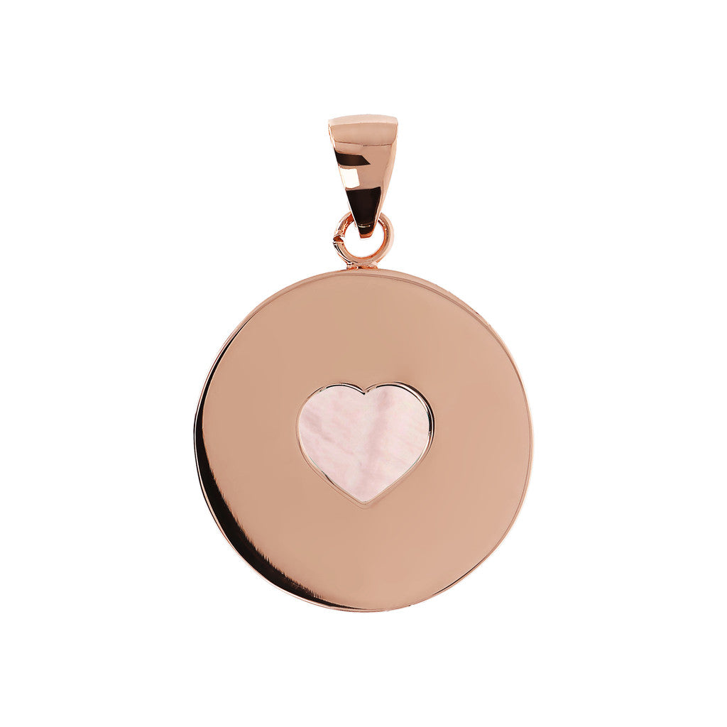 Bronzallure | Charms | Pendant with Heart Pink Mother-of-Pearl