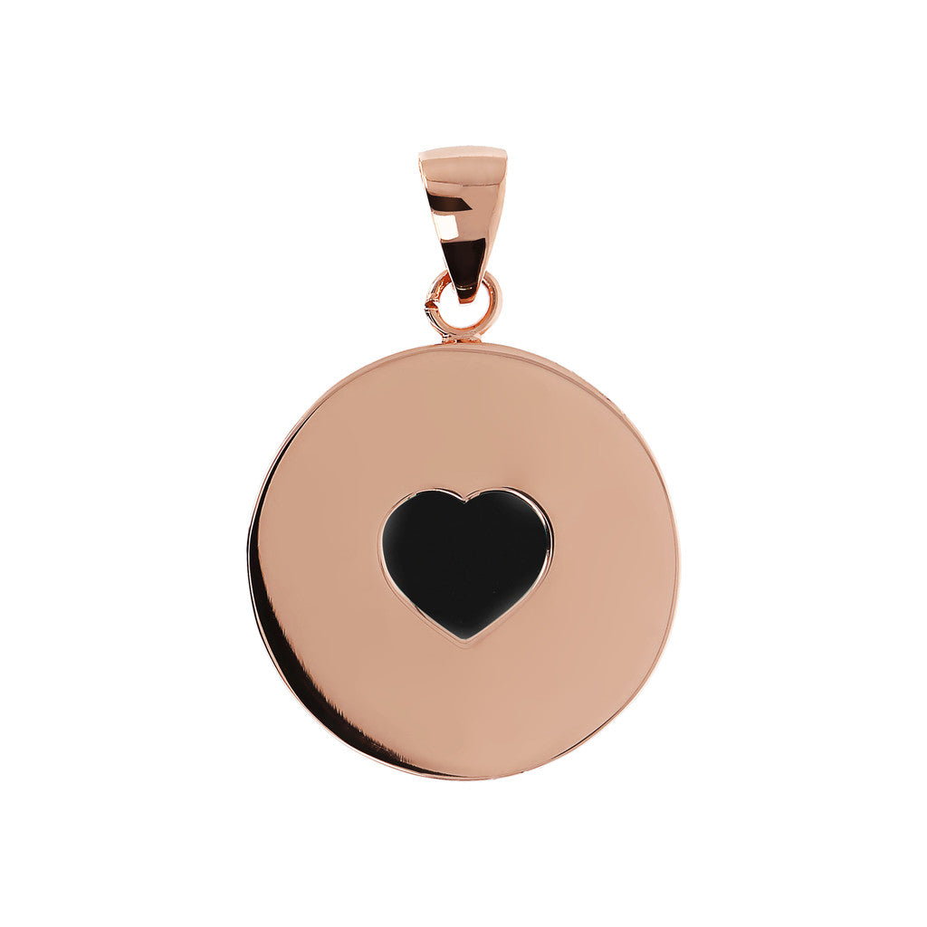 Bronzallure | Charms | Pendant with Heart Black Onyx