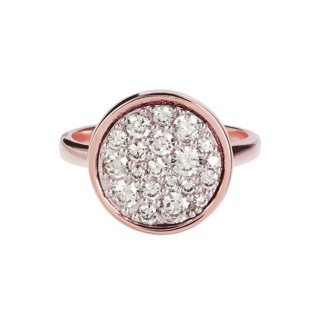 Petite Pave Ring CUBIC ZIRCONIA setting