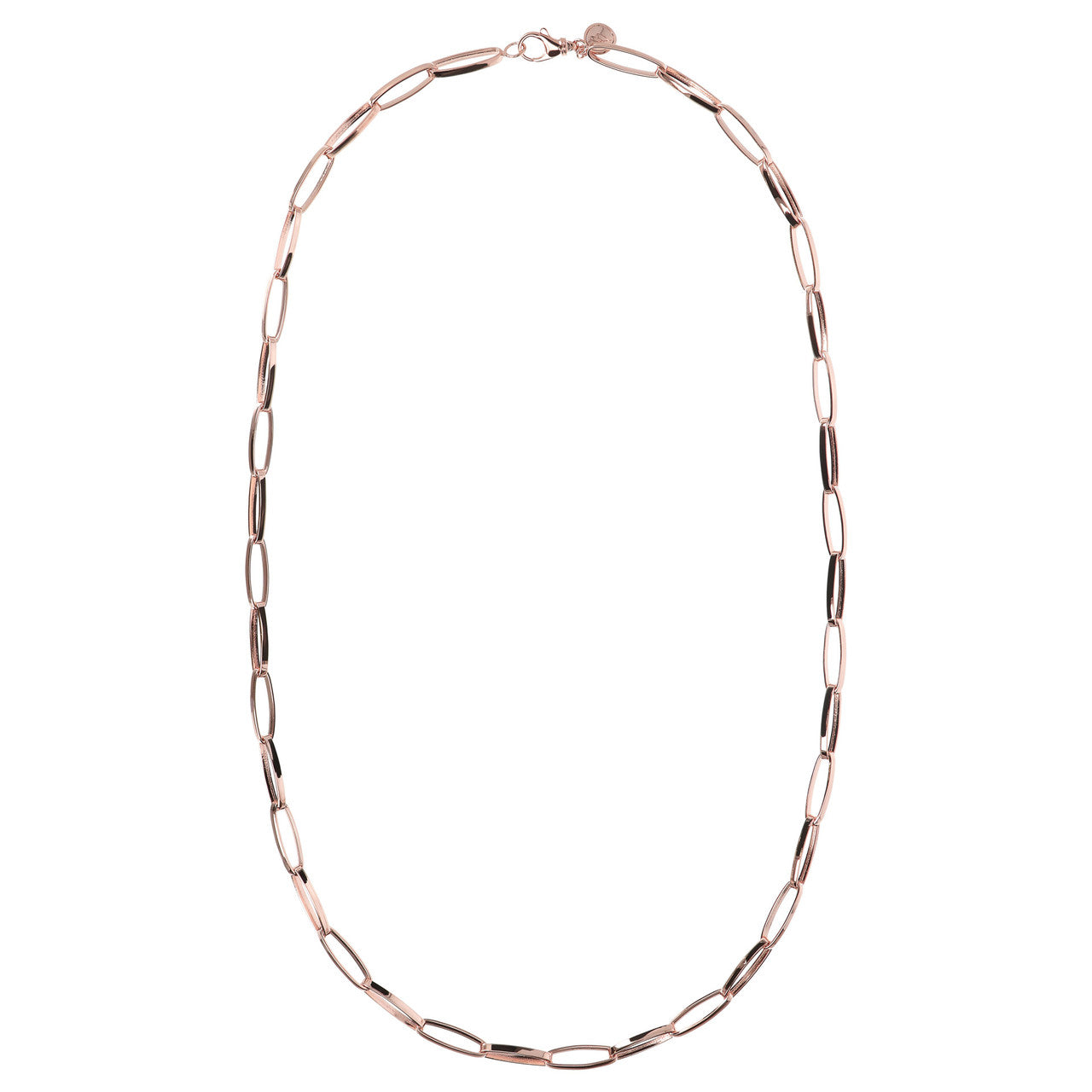 Polished Oval Link Necklace