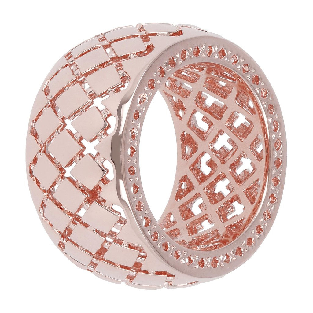 Bronzallure | Rings | Wide Fretwork Large Band Ring