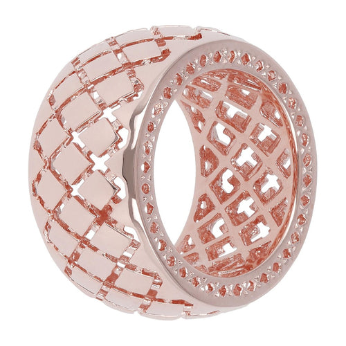 ROKOKO CHECKERED PATTERN BAND RING