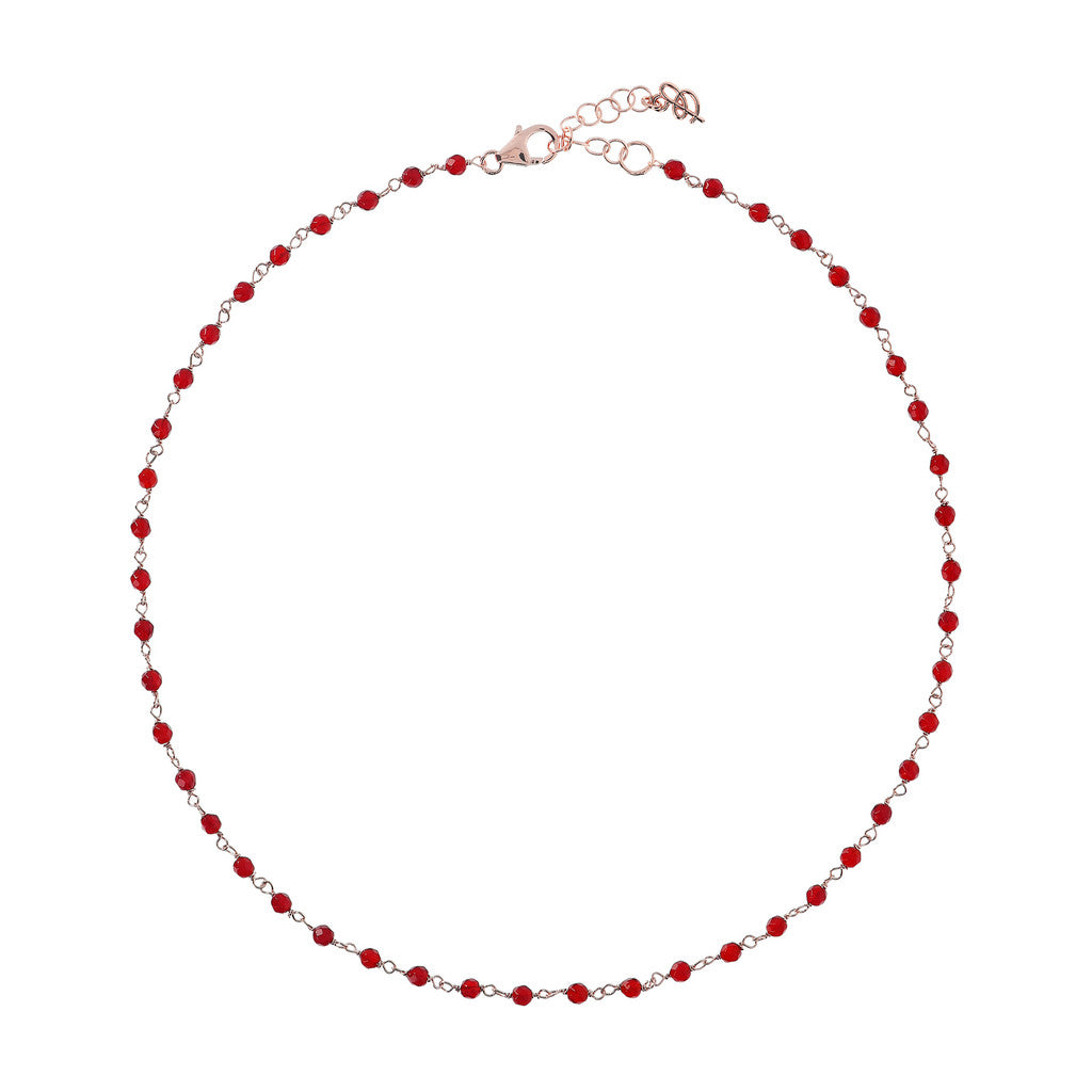 Red Agate Amorette Necklace PLUM AGATE