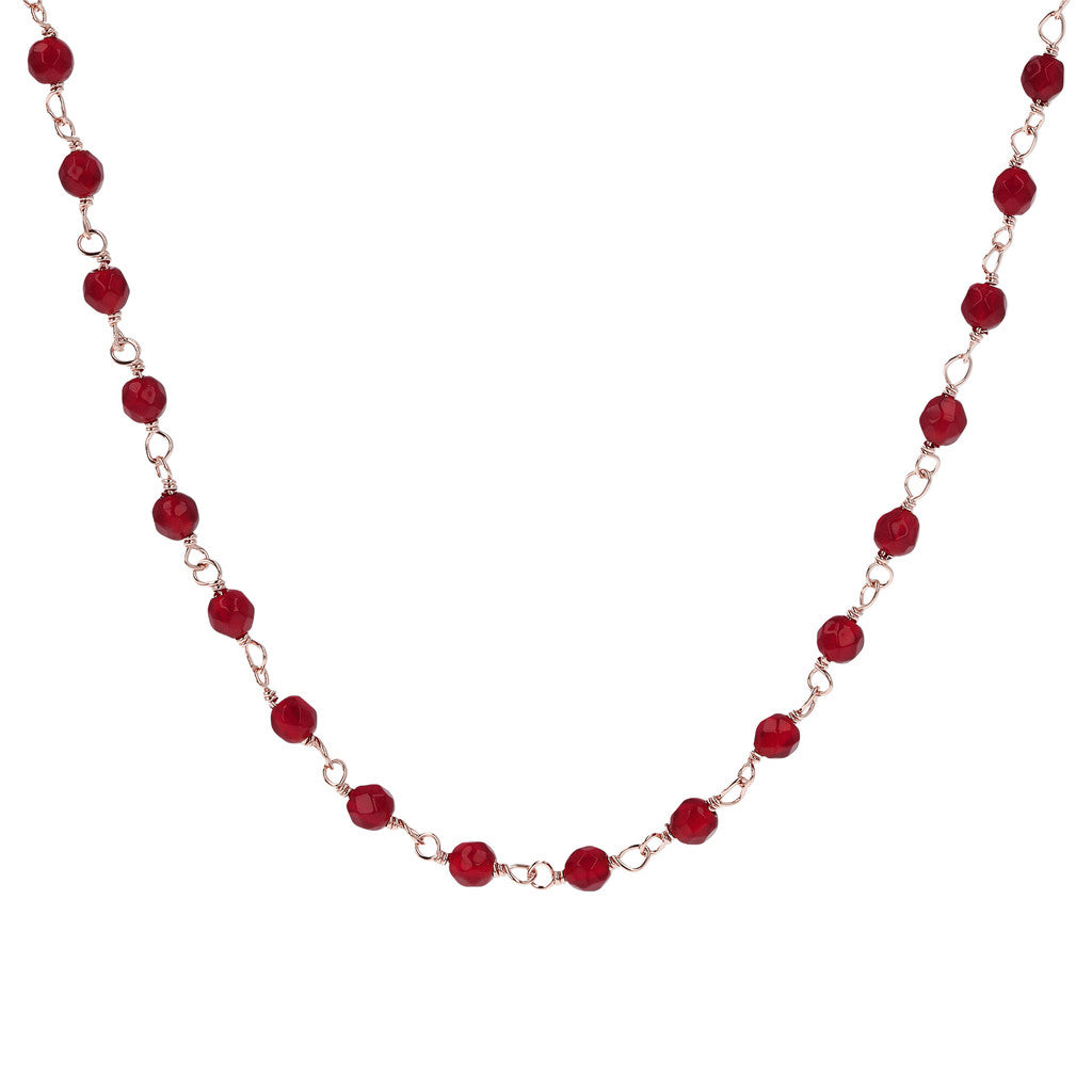 Red Agate Amorette Necklace