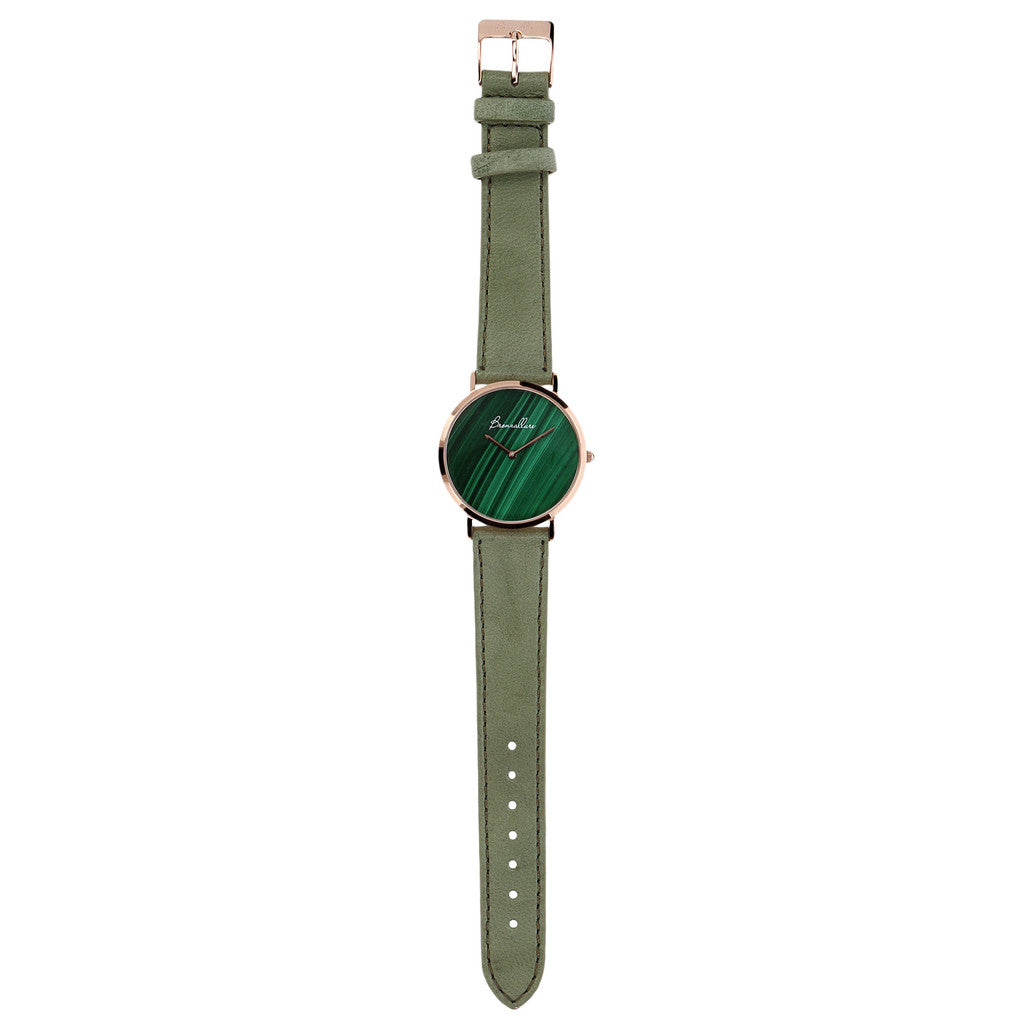 Regular Watch in Malachite bracelet