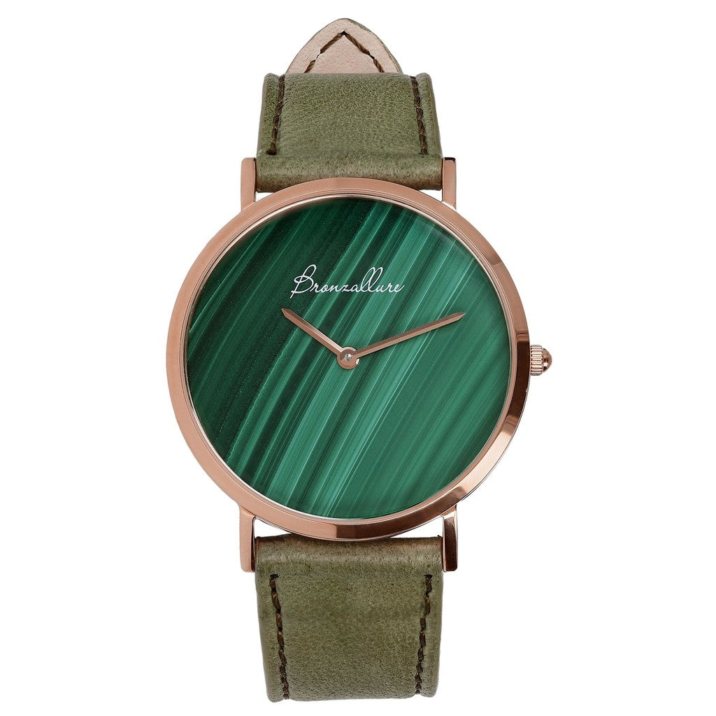 Regular Watch in Malachite