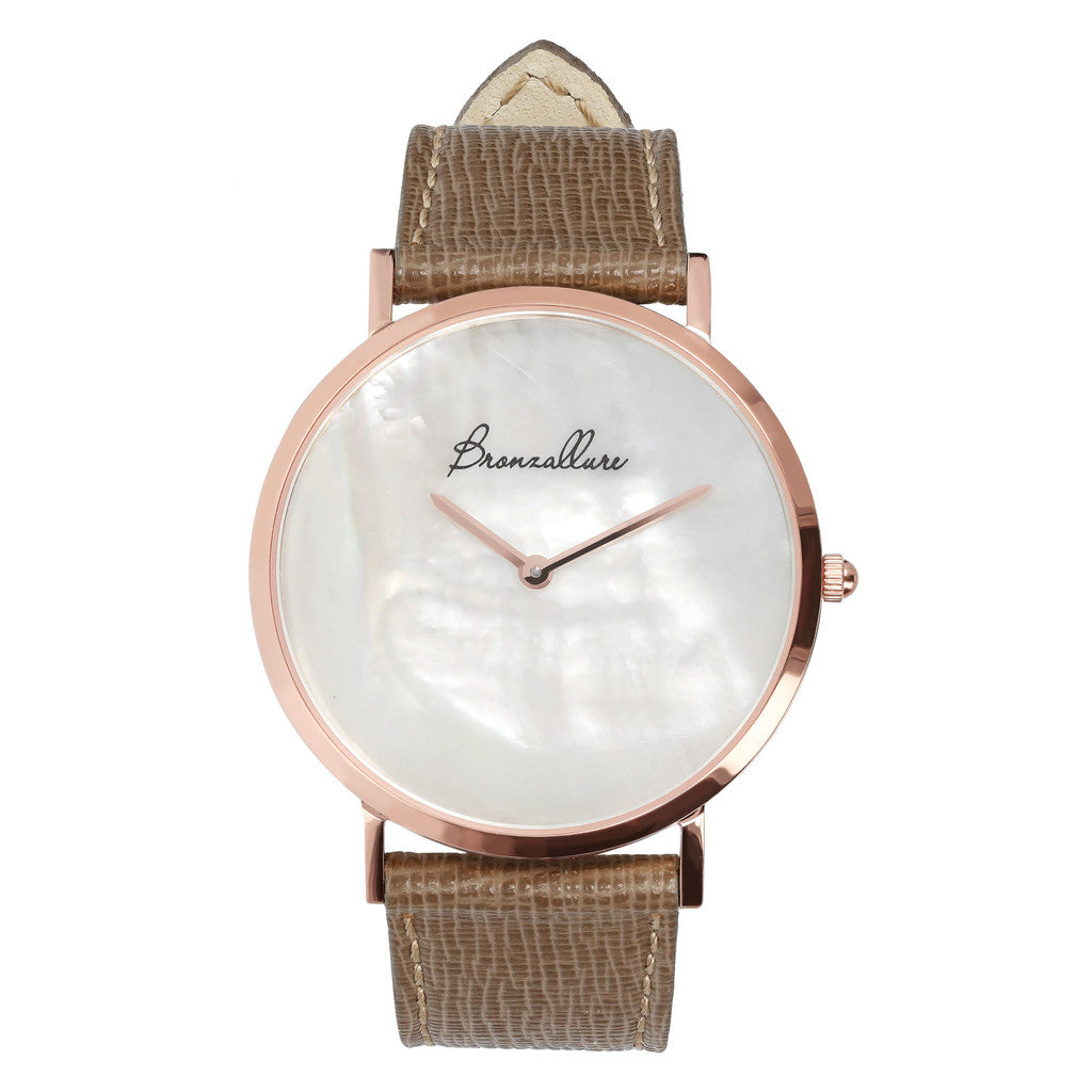 Mother of pearl watch in White Mop