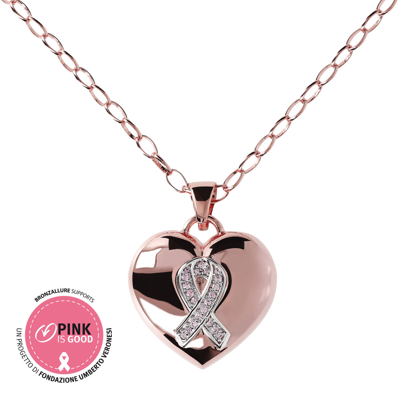 Cancer ribbon charms MORGANITE