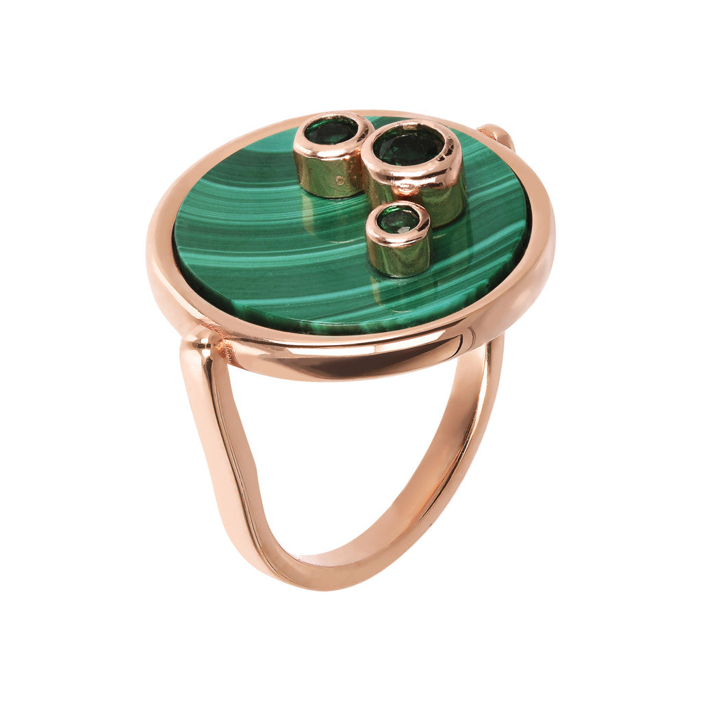 Ring With Cabochon MALACHITE