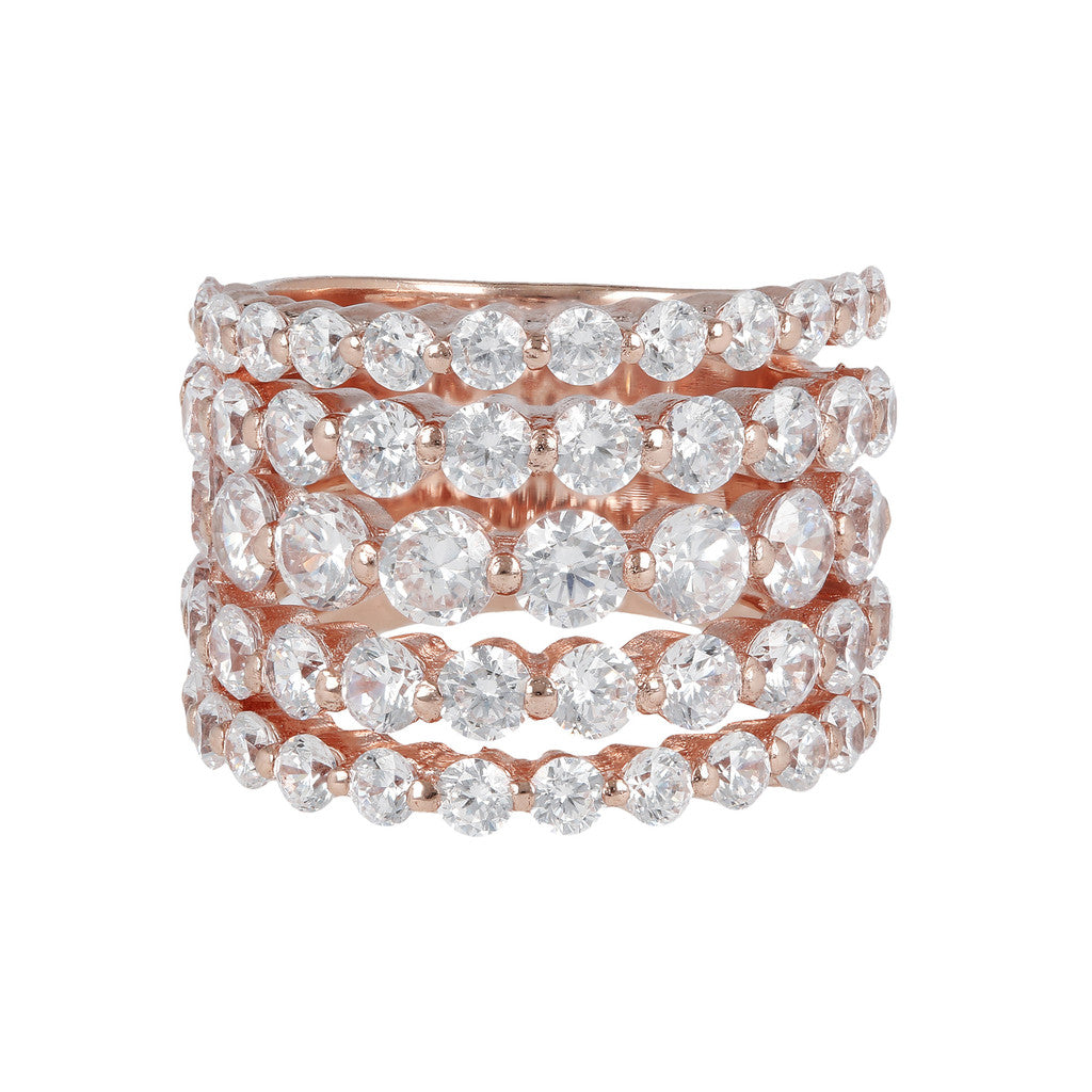 5 Row Riviera Ring