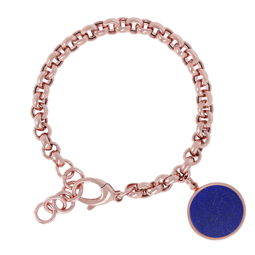 Rolo Bracelet with Gemstone LAPIS