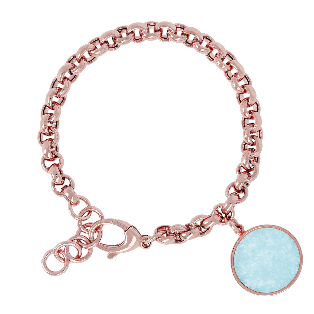 Rolo Bracelet with Gemstone