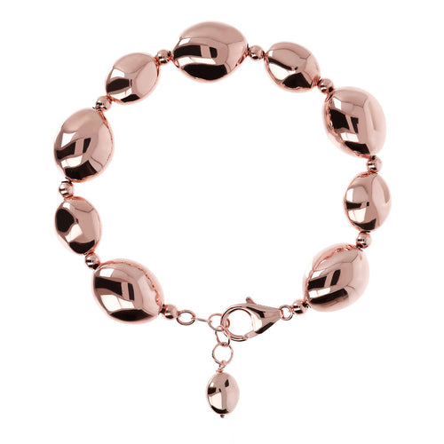 Rose Gold Plated Nugget Bracelet