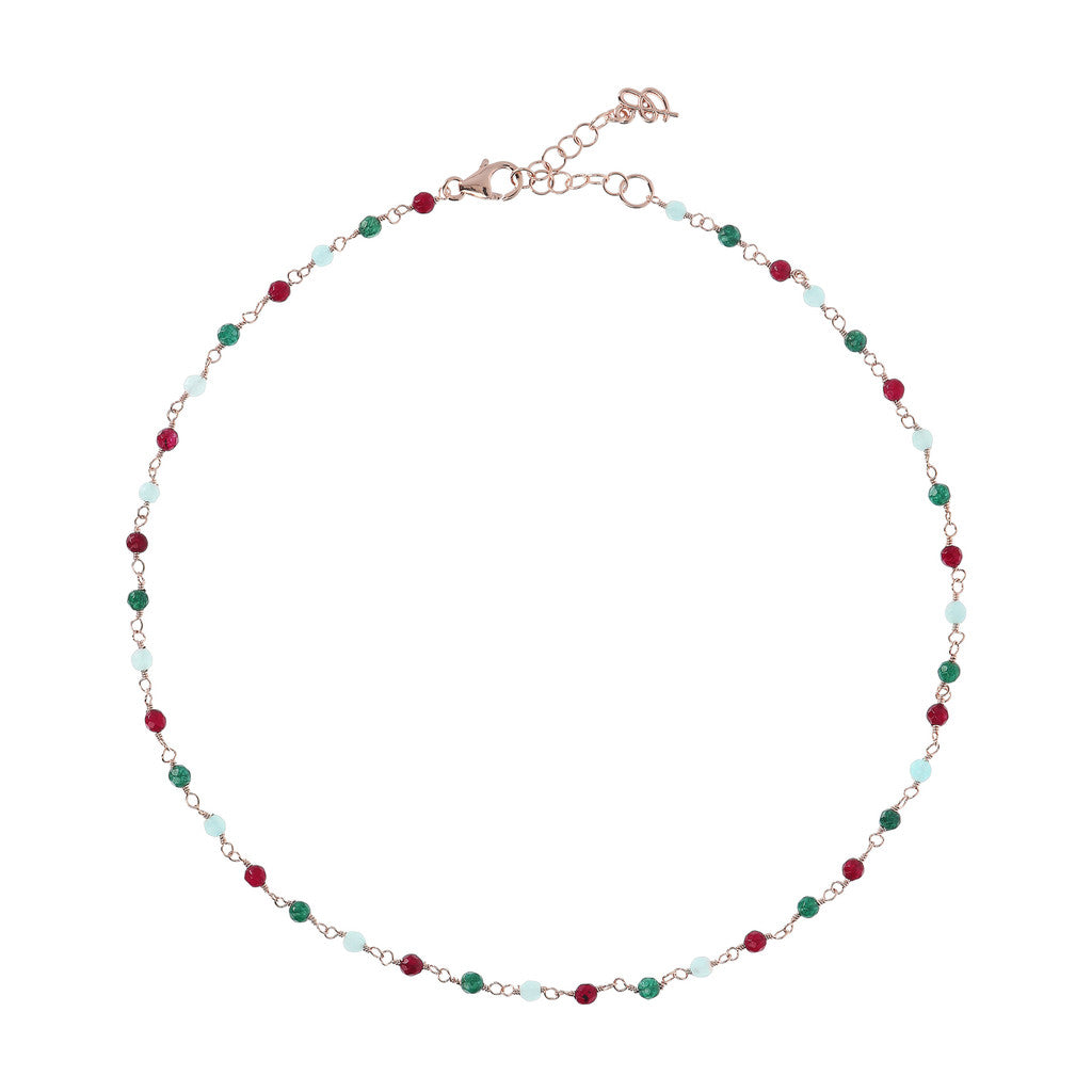 Rose Quartzite Amorette Necklace MULTICOLOR QUARTZITE