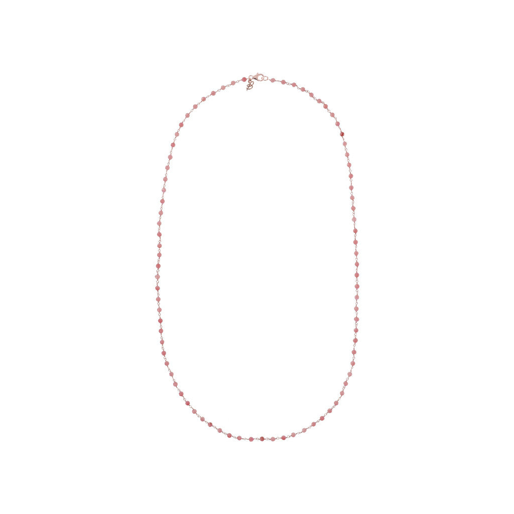 Rose Quartzite Amorette Necklace PINK QUARTZITE