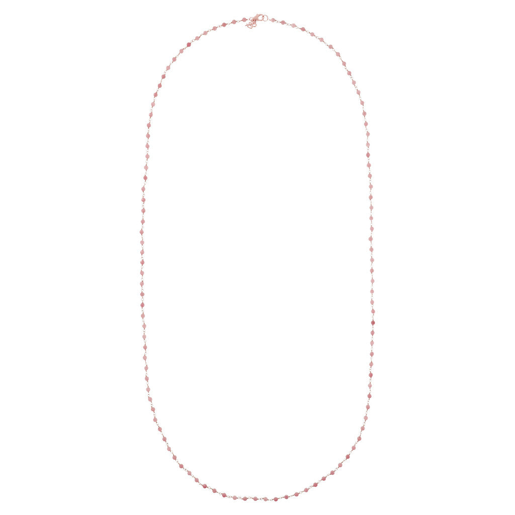 Rose Quartzite Amorette Necklace from above